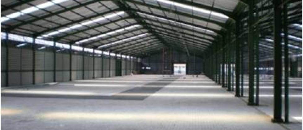Konstruksi Gudang atau Pabrik Bagian Sirkulasi Udara